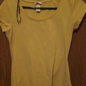 Short Sleeve Yellow Top